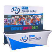 8ft Fabric Popup Display