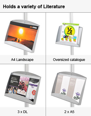 Displays many types of brochures!