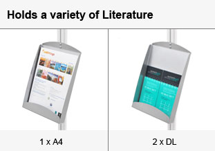 Different types of literature able displayed