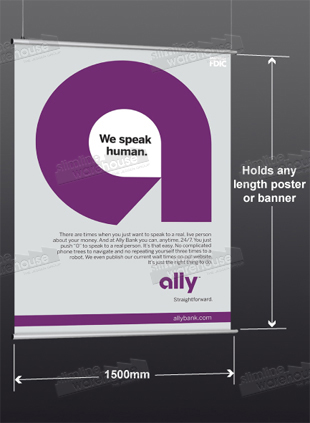 Poster Profile Displays Large 1500mm wide Graphic