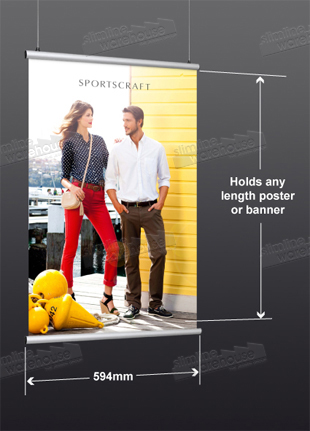 A1 (594mm) width Graphics fit on Poster Rails