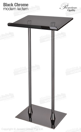 Black Lecterns with dual pole design