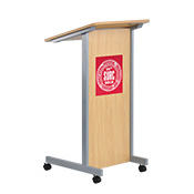 Wooden Podium on Wheels