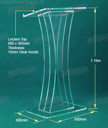 Acrylic Lectern Dimensions