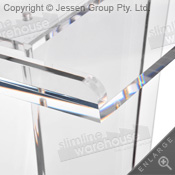 Thick acrylic has polished look for style