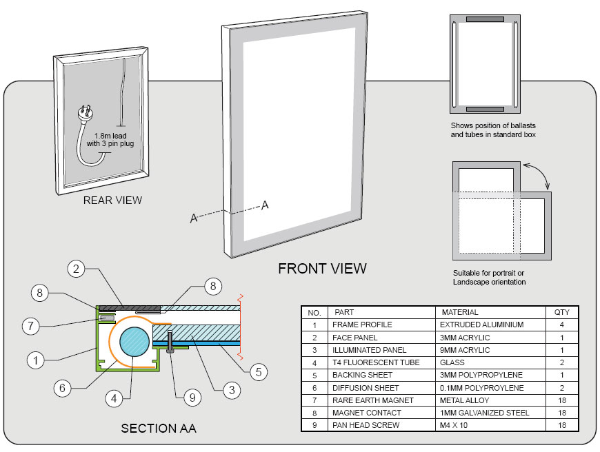 SDB-light-box-specification