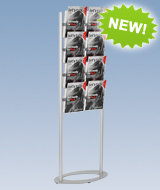 Tiered Brochure Holders 8 Pockets