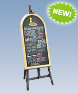 Easel with Menu Board