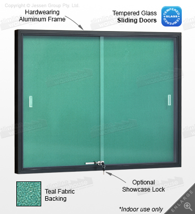 The Bulletin Boards Feature Shatter Resistant Glass