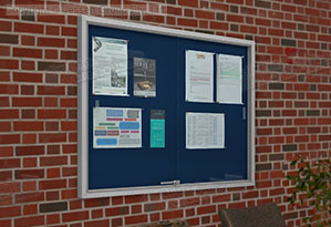Public Notice Boards Are Lockable To Protect Contents