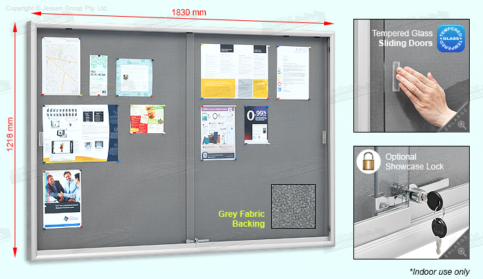 The Public Notice Boards Are Lockable For Use In Public Areas