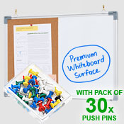 COMBO BOARD <br> 450 x 600mm <br> WITH 30 PINS PACK