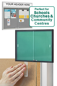Sliding Glass Door Notice Boards