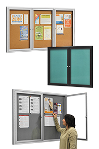 Swing Door Notice Boards