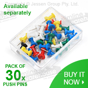Push Pins Available for Purchase