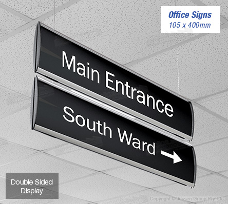 hanging office signs slimline warehouse