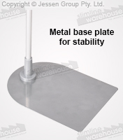 Retail Store Signs have Metal Base for Stability