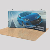 Fabric Display 2.2m x 5.2m <br>+ 4 x LED Lights<br> <b>(Single Sided Print)</b>