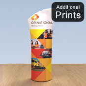 Additional Graphics Fabric<br>Fabric Graphic Print Only<br> <b>Angled 2m Display </b>