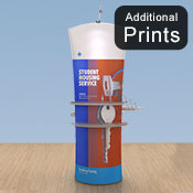 Additional Graphics Fabric<br>Fabric Graphic Print Only<br> <b>Curved 2m Display </b>