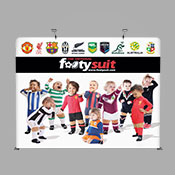Fabric Display 2.2m x 2.9m + 2 x LED Lights (Single Sided Print)