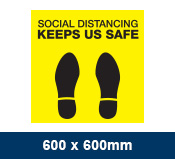 Social Distancing Floor Sticker 600x600mm