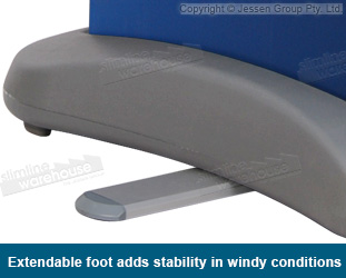 Extendable feet help to stabilise display