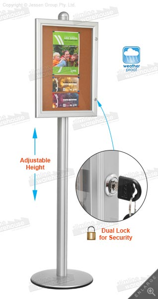 Mag ic Board With Stand For Outdoor Use furthermore Enclosed Bulletin Board Cabi  With Rubber Gaskets For Use Outdoors additionally Freestanding Cork Board With Waterproof Rubber Gasket Seal as well Mag ic Board With Stand For Outdoor Use further Waterproof LED Menu Corkboard For Outdoor Indoor Use. on waterproof outdoor enclosed bulletin boards