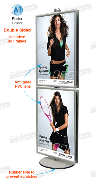 Display Stand, 4 x A1 Poster Holder Stand. Modular Display Stand ...