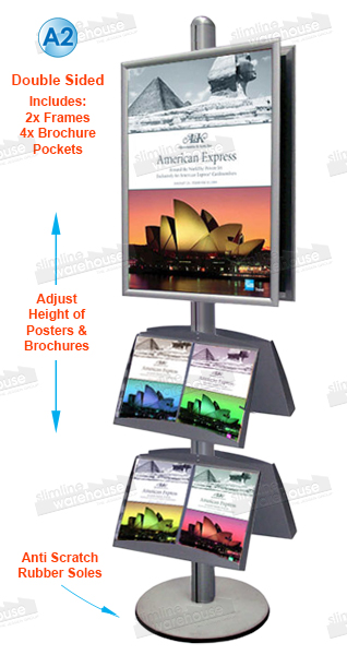 Exhibition Literature Stand : This exhibition literature stand is a double sided unit. two poster