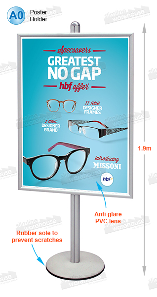 floor display stands a0 single sided poster holder free