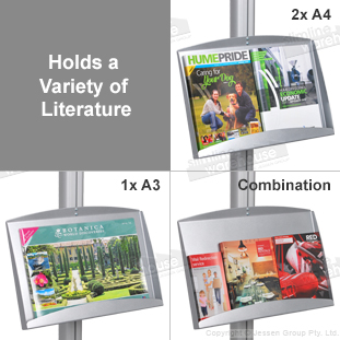 Displays many types of pamphlets!