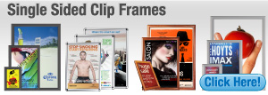 Single Sided Clip Frames