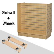 Slatwall Gondola on Wheels