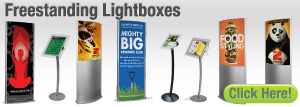 Freestanding Lightboxes