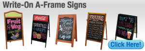 Write-On A-Frame Signs