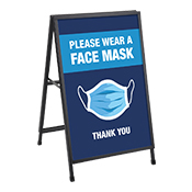 Wearing Face Mask Pavement Sign