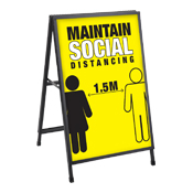 Sandwich Board for Social Distancing