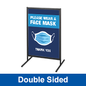T Frame Sign Wearing Face Mask - Double Sided