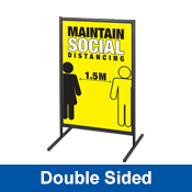 Outdoor Social Distancing Signage - Double Sided