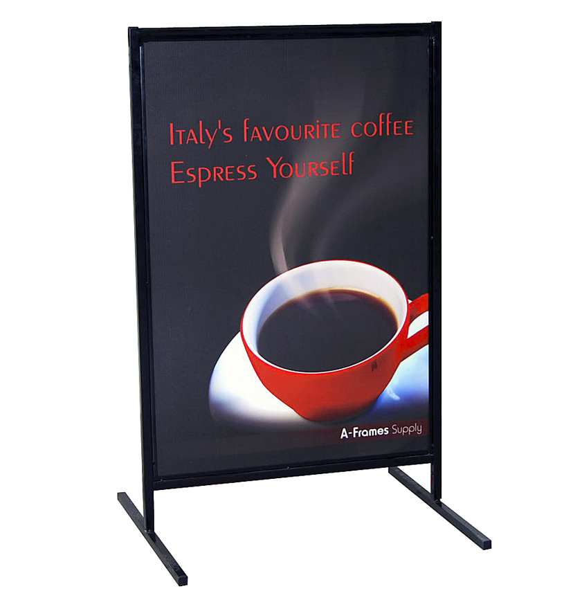 T-Frame Pavement Sign with Single-sided Printed Panel