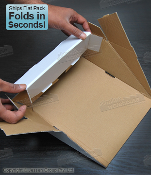 This Cardboard Display is Made of Recycled Cardboard for a Low Cost!