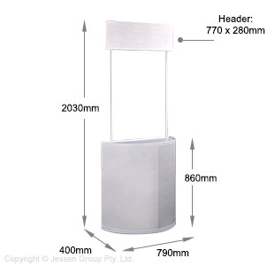 Counter Display Stand Dimensions