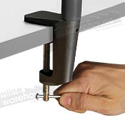 Securely Clamps to Counters with Ease
