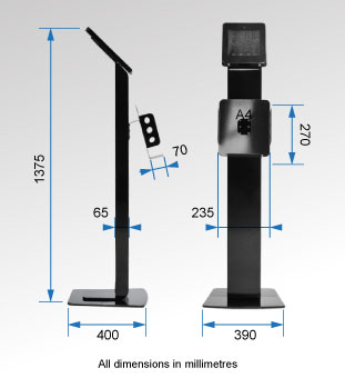 Mounts for iPad Dimensions