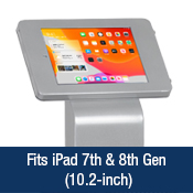 Silver iPad Holder w/ Poster Holder for 10.2