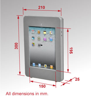 Dimensions for SKU: IPADWALSLV