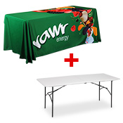 <b>Printed Table Throw</b> INCLUDES 6FT TABLE <br>(1829 x 762mm)