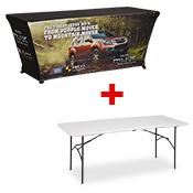 Printed Table Throw INCLUDES 6FT TABLE  (1829 x 762mm)