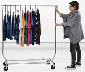 Portable Rolling Clothes Rack